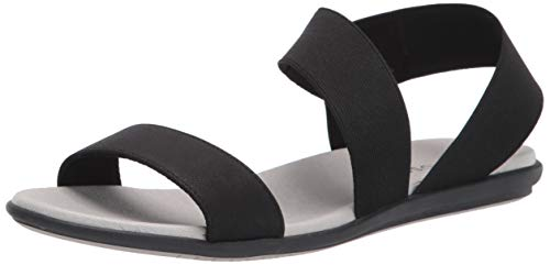 Aerosoles womens Watts Flat Sandal, Black, 8 US