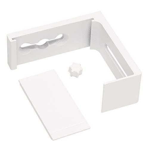 Ikea VIDGA Wandbeschlag in weiß; zur Montage von VIDGA Gardinenschienen; (6cm)