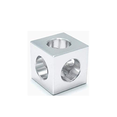 QFDM Accessories 3D Druckerteile 2020 Aluminiumblock Cube Prism Anschluss Radregler Cube Ecke V-Slot Eckhalterung 3D Printer Parts (Color : Silver, Size : 4pcs)