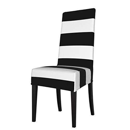 Feamo Stuhlhusse für Esszimmerstühle, Stretch-Stuhlbezug, schwarz und weiß gestreift, Stuhlhussen für Esszimmerstühle, Stuhlschoner für Hotelzeremonie, Party, Haustierschutz