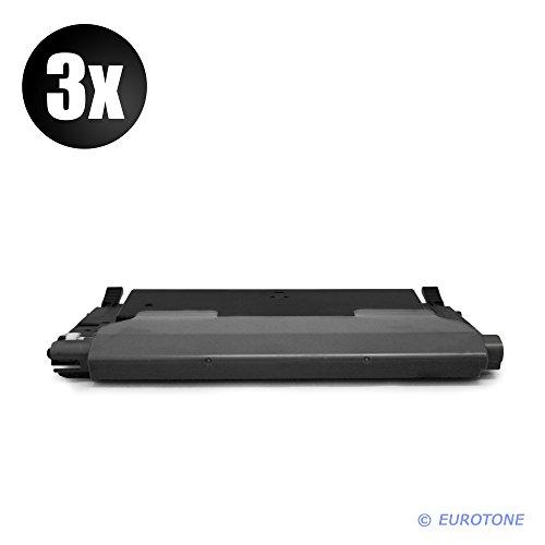 3X TONERTRONIC Cartridge für CLP 310, 315 CLX 3170, 3175 ersetzen Samsung Samsung Schwarze CLT-K4092S Patronen Original EUROTONE (ISO-Norm 19798)