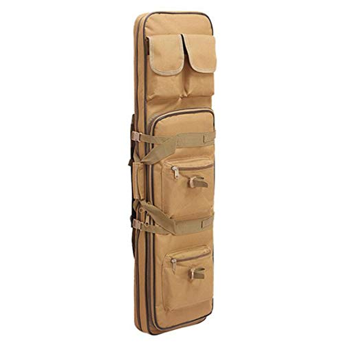 Caja De Rifle Medio, Bolsa De Armas De Bolsa De Arma, Caja De Rifle Táctico Engrosado con Correas De Hombro para Proteger Un Rifle Durante El Transporte,Amarillo,85cm/33.5in