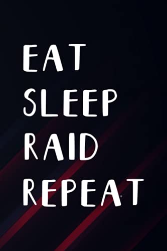 Meditation Diary - Vintage Eat Sleep Raid Repeat Wow Gaming Video Gamer Design Good: Raid, Meditation Notebook | A Simple 6 x 9, 110 Pages Meditation ... Couples to ... Progress (Gifts for Meditation