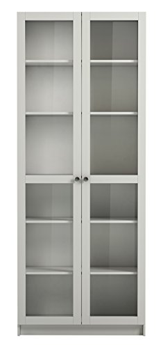 Steens Ensemble de Portes Vitrée, Bois, Blanc, 193 x 80 x 2 cm