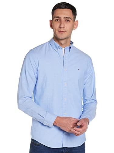 Tommy Hilfiger Herren CORE Stretch Slim Oxford Freizeithemd, Blau (Shirt Blue 474), Large