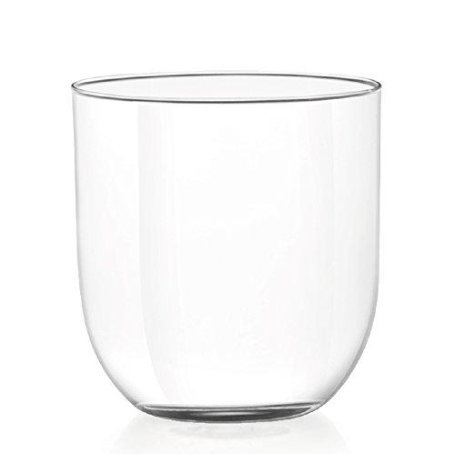 H&H Set 6Vaso Cristal Drop Agua, 380CC