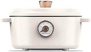 Zcm Dormitorio estudiantil Olla 2L multifunción Cocina eléctrica Mini sartén Antiadherente for freír Vapor del alimento guisado de ebullición Pot 220V (Capacity : 2L, Color : White)