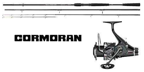 Cormoran Feeder Combo 3,60m / 80-230g Feederrute Freilaufrolle Ersatzspule Angelset