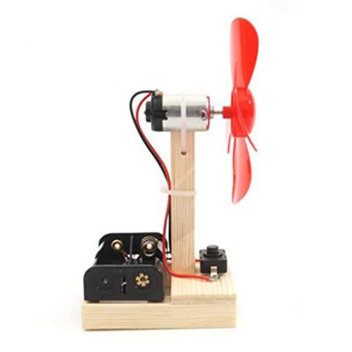 MagiDeal Modelo de Motor de Ventilador de Generador de Viento para Niños de 4 Cuchillas, Kit de Montaje de Física de Juguete Inteligente, Molino de Viento con