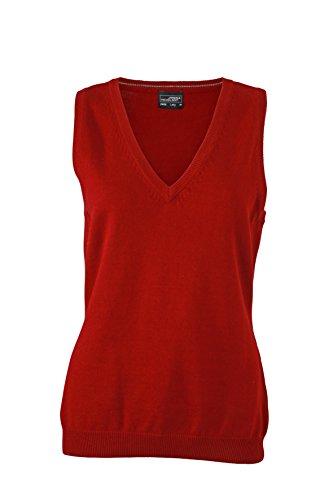 James & Nicholson Damen V-Neck Pullunder, Rot (Bordeau), 40 (Herstellergröße: XL)