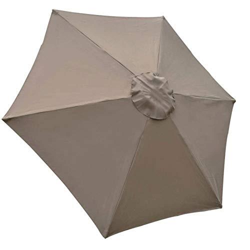 Telo di ricambio per ombrellone da giardino, 2 m/6 bracci, copertura in tessuto, anti-ultravioletto, impermeabile, per ombrellone da giardino