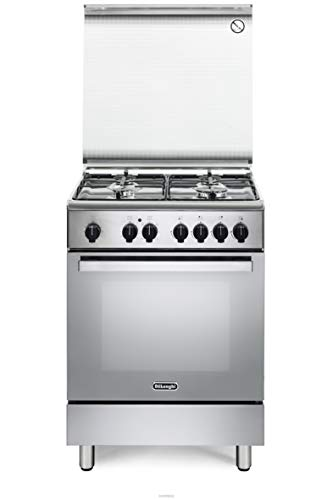 Cucina a gas con forno elettrico, N°4 Fuochi, 60x60 cm, colore Inox DMX64 ED