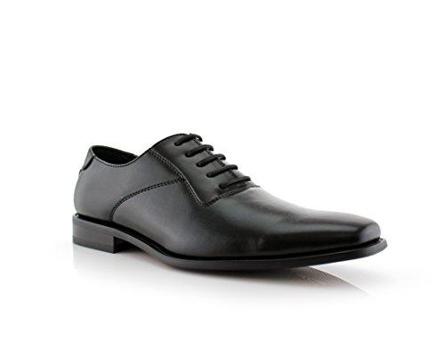 Ferro Aldo Men's Formal Black Snipe Toe Dress Shoes Lace up Oxfords 19277a (12 U.S)