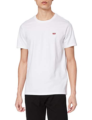 Levi's Herren Ss Original Hm Tee T-Shirt, Cotton + Patch White, XL