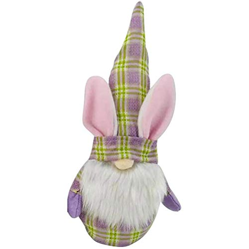 Muñeca de Conejo de Pascua, muñeca de Conejito de Pascua, Adorno de Conejo de Pascua, muñeca de Conejo de Pascua sin Rostro, decoración de gnomo de Conejito de Pascua, muñeco de Peluche Regalos