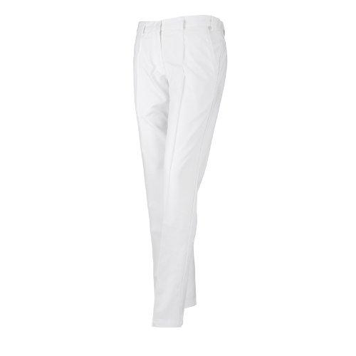 IJP Design, Pantaloni da Golf Donna - Tech, Bianco (Golfballweiß), 14-31