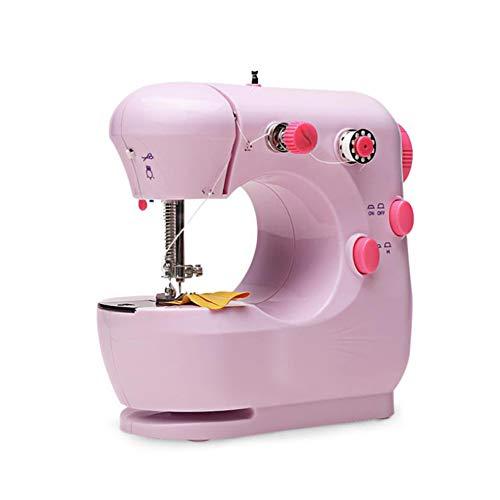 Decdeal Mini Máquinas de Coser Portátiles,Máquina de Coser Eléctrica para Telas Multifuncionales,para Uso Doméstico,para Principiantes de Bricolaje