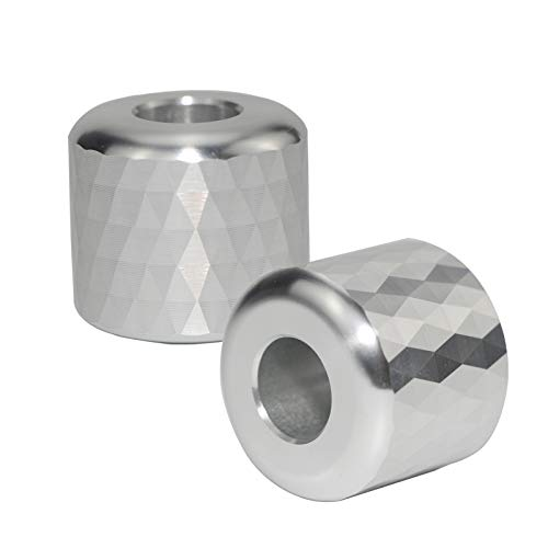 SNMIRN Rhombus Shaving Razor Stand Holder, Aluminum Alloy Safety Razor Base Stand, Toothbrush Holder for Bathroom Countertops, Multi-Function Holder Mini Storage Rack Silvery (2 Packs)