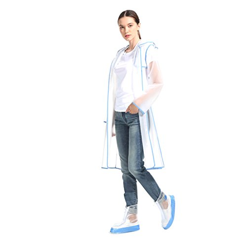 Brilliant firm Étudiant Transparent Poncho Unique Adulte imperméable à l'eau imperméable Portable (Color : Blue, Size : XL)