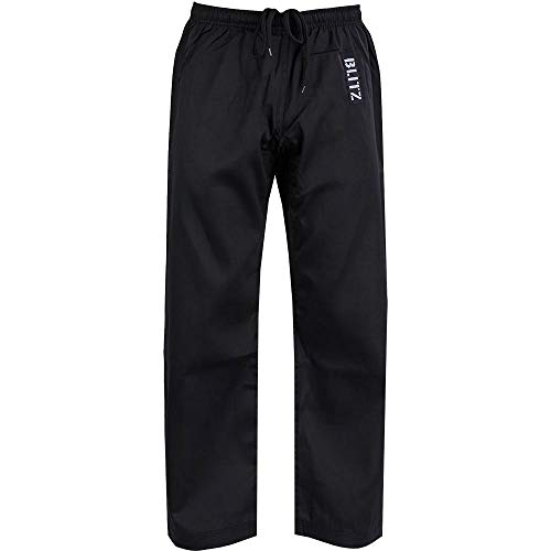 Blitz Unisex's Karate-Hose, Polycotton, Schwarz, 000/110 cm