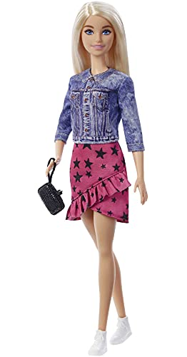 """Barbie: Big City, Big Dreams Barbie """"Malibu"""" Roberts Doll (Blonde, 11.5-in) Wearing Jacket, Skirt & Accessories, Gift for 3 to 7 Year Olds"""
