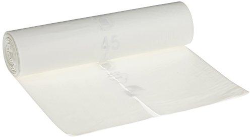 Deiss Premium - Sacchi della spazzatura, bianco o trasparente, da 70 o 120 litri, 120 Liter - Typ 60, bianco, 1
