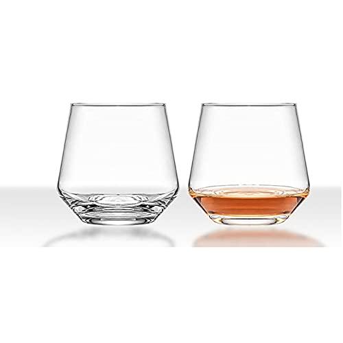Copa de cristal transparente Juego de 2 piezas 13oz Whisky Wine Cerveza de vidrio Set de vidrio sin plomo