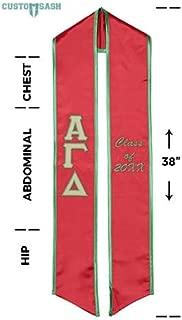 Alpha Gamma Delta Graduation Sash