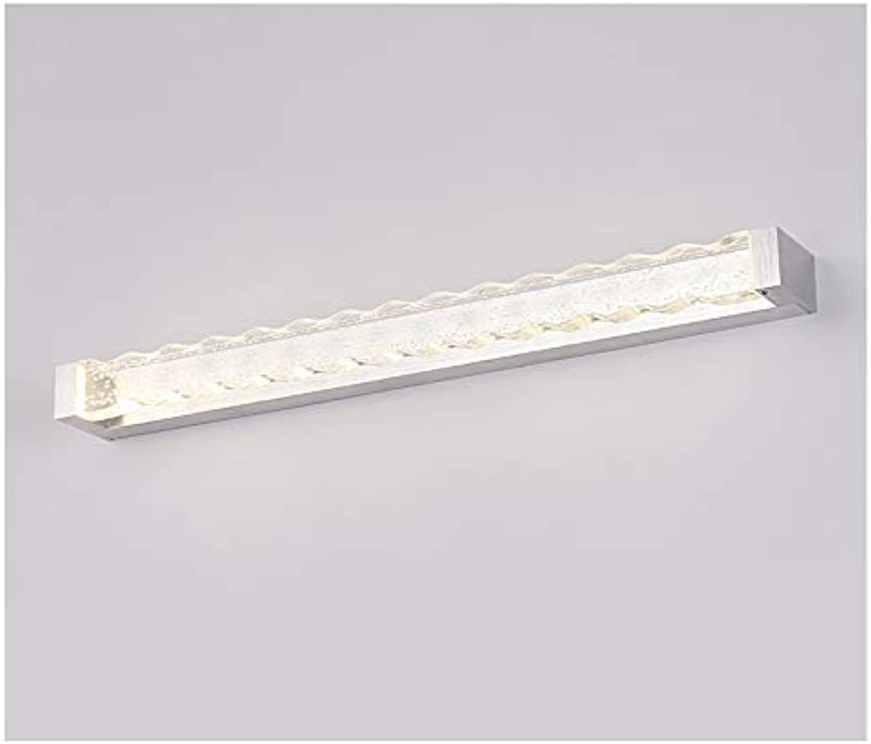 HN Lighting Kristallblase Spiegel Scheinwerfer, LED Einfache Badezimmer Lange Dicke wasserdichte Edelstahl Spiegel Licht (Farbe   Silber, gre   40 cm)