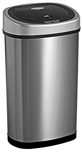 Homra Fonix 50 Liter - Luxus Mülleimer mit Sensor - Elektrischer Mülleimer 50L, 1 Fach Abfalleimer mit Sensor aus Hochwertiger Edelstahl
