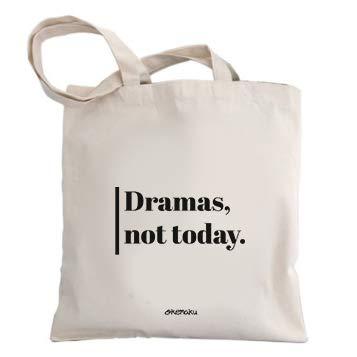 Okemaku Bolsa Tela Mensaje Dramas, Not Today - Bolsas de algodón Bolso - Totebag con Frase motivadora Graciosa Humor. Bolso para Regalo Juego de Tronos Arya: Amazon.es: Hogar
