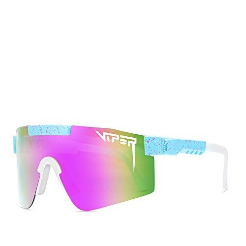 WMSS Pit Viper Hombres y Mujeres Polarizadas Sunglasse, Aire Antecedentes Eyewear UV400 Lente con Espejo, Deportes de Nieve al Aire Libre Bicicleta de Pesca de Golf Ski Running Gafas de Seguridad,C13