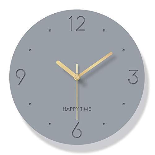 Reloj de pared tridimensional de acrílico simple de moda creativa, sala de estar, dormitorio, cocina, reloj de pared de moda para el hogar, reloj de pared silencioso con pilas (gris, 12 pulgadas