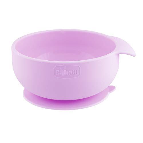 Chicco - Cuenco de silicona con ventosa, color rosa