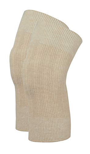 wobera Angora Gelenkwärmer, leichte Ausführung 70% Angora (Medium, beige)