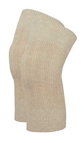 wobera Angora Kniewärmer, leichte Ausführung 70% Angora (Medium, beige)