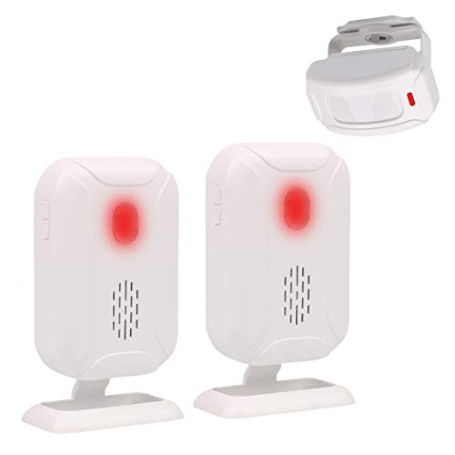 Mengshen アラーム モーションセンサー ドアベル ワイヤレス 赤外線 セキュリティ 盗難警報 ホーム ショップ用 1センサーと1レシーバー YBQ041