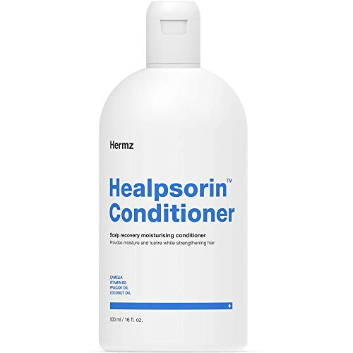 Healpsorin Healthy Hair Psoriasis Conditioner for Dry Scalp - Camellia Oil, Arginine, Coconut Oil & Vitamin B5 - Relieves Dandruff & Seborrheic Dermatitis Symptoms for Shiny, Flake-Free Hair