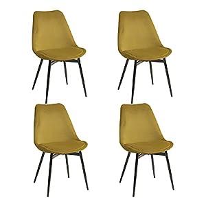 Larghezza 44,5 cm x profondità 40 cm x altezza 88 cm, altezza seduta 45 cm. Indispensabile per la vostra stanza, questa sedia dallo stile scandinavo che raccoglie lo spirito chic, vi darà un'eleganza unica e un'aria naturale con la combinazione della...