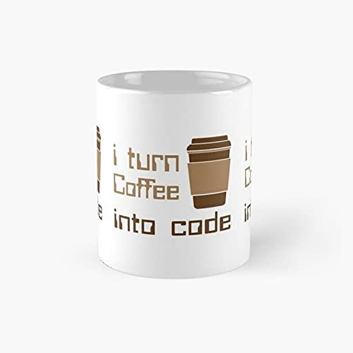 I Turn Coffee Into Code Classic Mug - 11 Ounce For Coffee, Tea, Chocolate Or Latte.