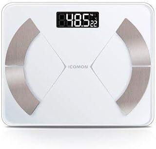 kaige Las básculas de Piso electrónica Escalas Elegante Cuarto Pesos Escala de Peso Corporal Inteligente Grasa Digitales Bluetooth Conectar balanza báscula WKY