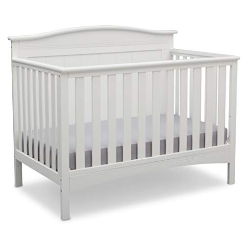 Delta Children Bennett 4-in-1 Convertible Baby Crib, Bianca White