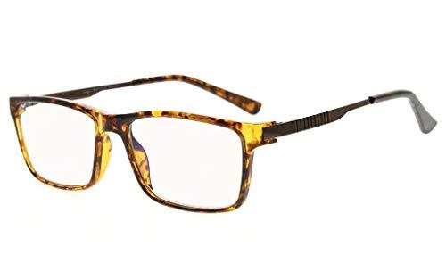 Eyekepper Noline Bifokale progressive Multifokusbrille 3 Stufen Vision Lesebrille Bernsteinfarbene Blaulichtblockierung (+2.75, Schildkröte)