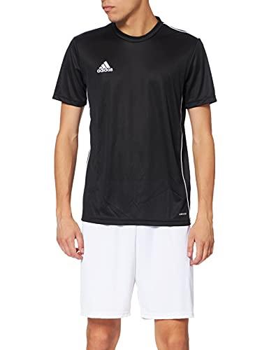 Adidas CORE18 JSY T-shirt, Hombre, Black/ White, L