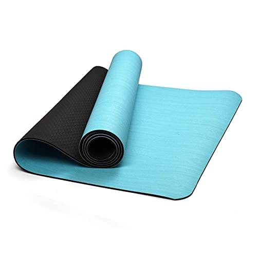 N\C La Esterilla de Goma SBR PU Yoga Tiene Las características de absorción de Agua, transpirabilidad, Resistencia al Deslizamiento en seco y húmedo, Grosor 5 mm, tamaño 183CMX61CM