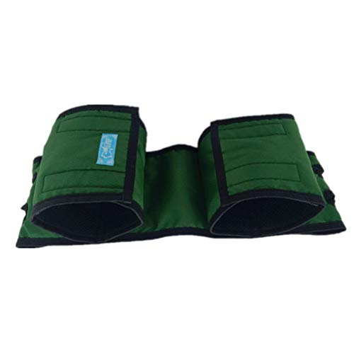 Healifty Rollstuhl Sicherheitsgurt Gurt Fußstütze Beinstütze Fußstützgürtel Fußstützgurt Beingurte Beinschlaufe für ältere Menschen Senioren Patienten (Grün)