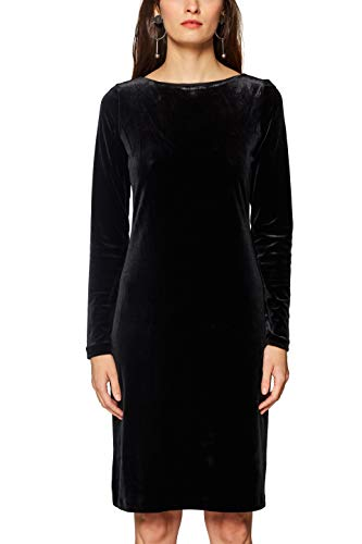 ESPRIT Collection Damen 118EO1E024 Kleid, Schwarz (Black 001), Large