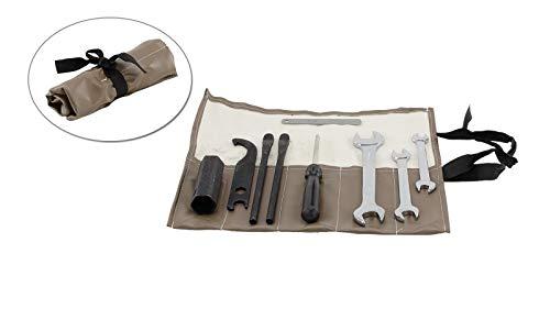 Werkzeugtasche braun (wie Original) 10-teilig für Simson