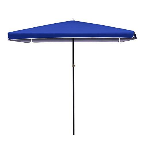 DFBGL Sombrilla Cuadrada de 6.5 pies para Patio al Aire Libre, Estilo de Mercado para balcón, Mesa, terraza, jardín, Cubierta, Patio, Sombra o Lado de la Piscina (Color: Azul, tamaño: 6.