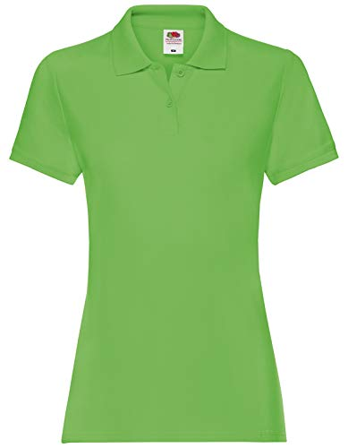 Fruit of the Loom Damen Premium Polo Lady-fit Poloshirt, Größe:L, Farbe:Lime